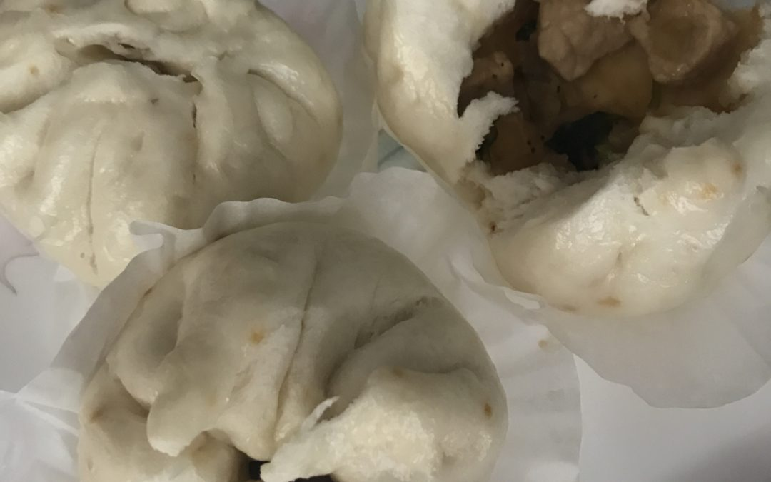 Black Pepper Pork Steamed Buns
