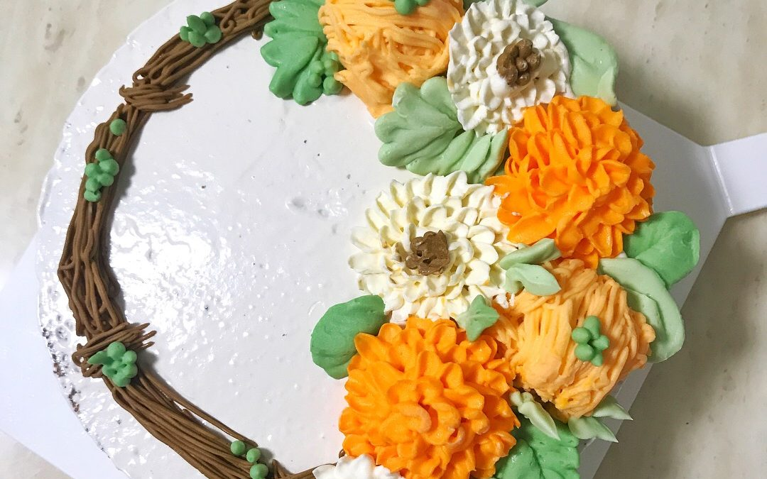 Buttercream Garden Vanilla Cake