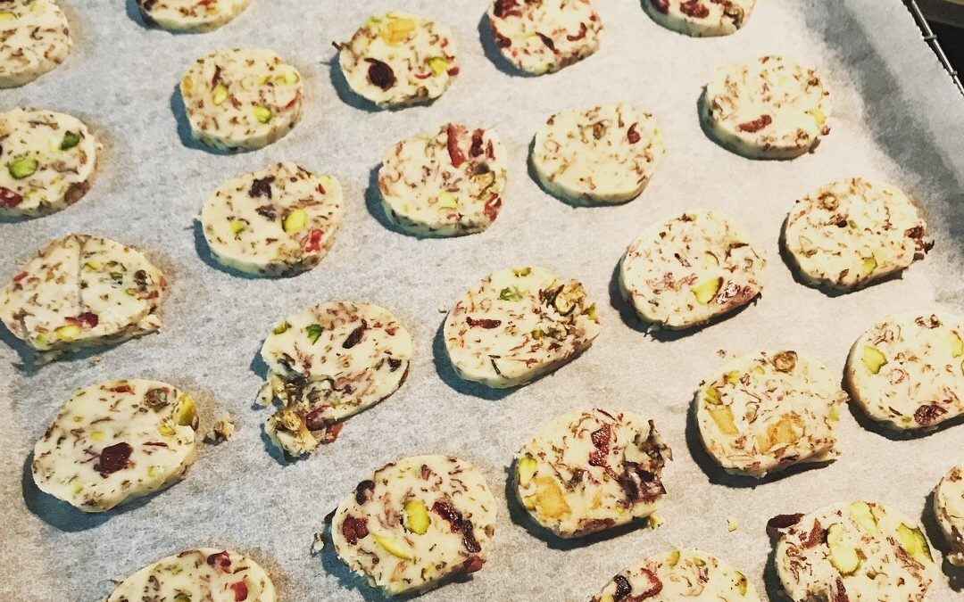 Rose and Cranberry Pistachio Cookies