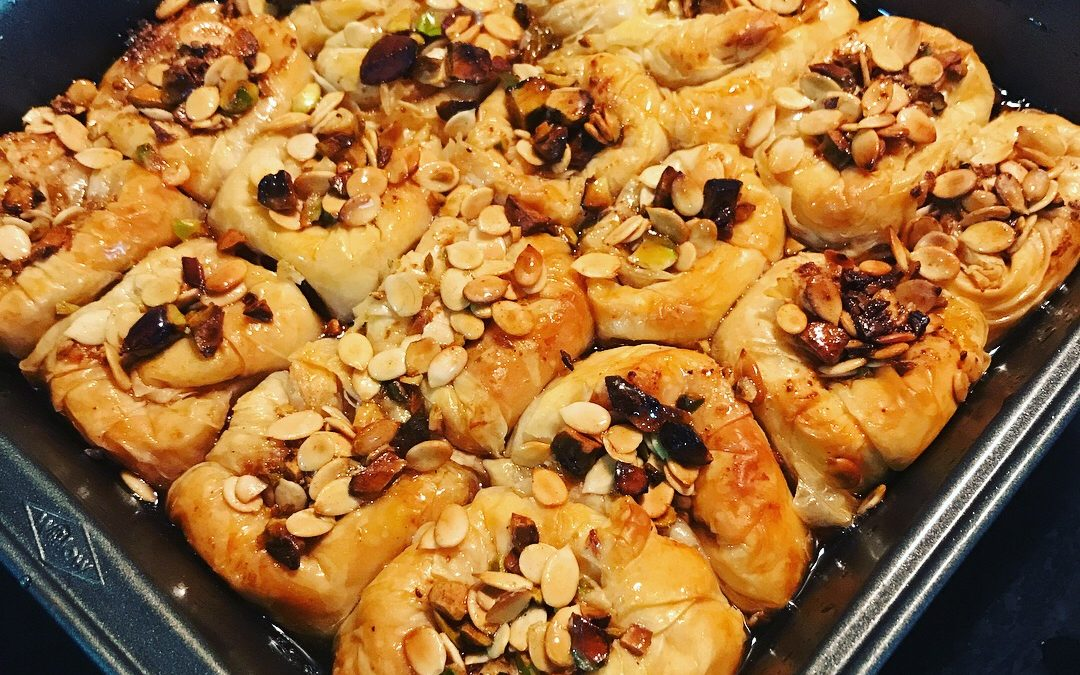 Pistachio and Melon Seeds Baklava
